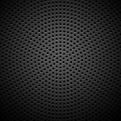 Cirkel geperforeerde Carbon Speaker Grill textuur