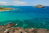 Pacific Ocean Water Off The Coast Of Oahu In Hawaii