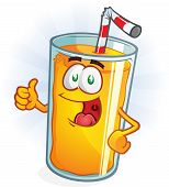 Orange Juice Cartoon Thumbs Up