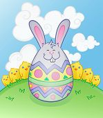 Easter Bunny Ei-Cartoon-Figur