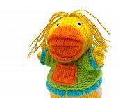 foto of rastafari  - little colored rastafari bound duck toy isolatid - JPG