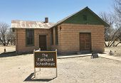 A Fairbank, Arizona, Ghost Town Schoolhouse Shot
