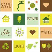 Salvar o meio ambiente, conjunto de Eco