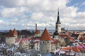 stock photo of olaf  - historic Old Town of Tallinn capital of Estonia - JPG