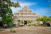 Main gate at Taman Sari water castle - the Royal garden of sultanate of Yogyakatra.  Java, Indonesia