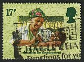 UK - CIRCA 1984: A stamp printed in UK shows image of The Nigerian Clinic, circa 1984.