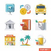 Traveling Flat Icons