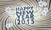 Vintage Wooden Happy New Year Label