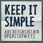 Simple alphabet