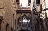 Gothic quarter in Barcelona Spain