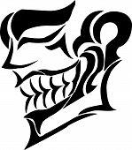 image of joker  - Vector illustration joker face and revolvers - JPG