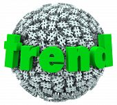 Trend Word on Hashtag Tag Sphere Trending Topics