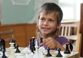 Girl Plays Chess