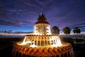 image of fountains  - The Pineapple Fountain in historic downtown Charleston - JPG