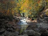 Quarry Falls in Autumn, Highlands North Carolina