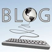Blogging Keyboard Blogs To Earth American Western Blogosphere
