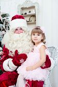 pic of saint-nicolas  - girl in an elegant dress and Saint Nicolas - JPG