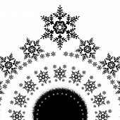Snowflakes in a circle card