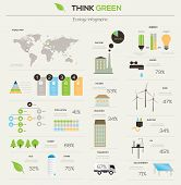 Eco infographic elements.