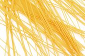 pic of gril  - Uncooked italian spaghetti mesh on a white background - JPG