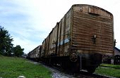 Old Train Carriages at Tumpat Railway Station