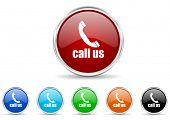 call us icon set