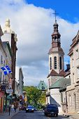 QUEBEC CITY, CANADA - SEP 10: Street view in the day on September 10, 2012 in Quebec City, Canada. A