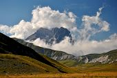 picture of apennines  - Gran Sasso seen from the plain of   - JPG