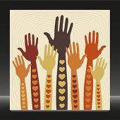 Caring or volunteering hands.