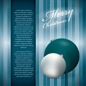 Christmas background or bluish greeting card, vector illustration