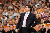 VALENCIA - MAY, 1: Coach of Unics trinchieri during a Eurocup Finals match between Valencia Basket C