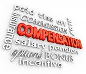 pic of payroll  - Compensation Words Commission Incentive Insurance Benefits - JPG