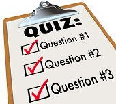 stock photo of quiz  - Quiz Clipboard Checklist Ask Answer Questions Test - JPG