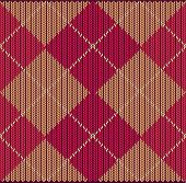 Argyle Sweater Background