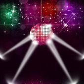 Disco Ball Music Background