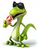 Lizard and ice cream