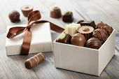 pic of truffle  - assorted chocolates confectionery in their gift box - JPG