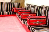 Traditional Arabian style seating arrangement