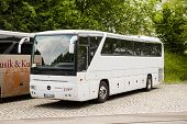 White Mercedes-benz Coach Bus