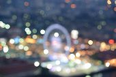 Bangkok City Skyline. Blurred Photo Bokeh