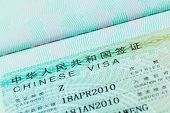 Passport Stamp Visa And Credit Card For Travel Concept Background, Chinese