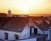 Sunrise over rooftops, Arcos de la Frontera.