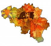 Flemish Brabant On Map Of Belgium
