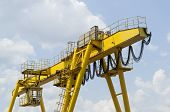 Yellow industrial crane