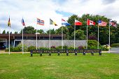 Omaha Beach, Normandy,Ferance.- August 9: Musee memorial in American War Cemetery on August 9, 2013.