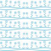 Pattern of spring flowers