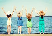 foto of waving hands  - summer holidays and vacation  - JPG