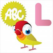 L is for Lovebird