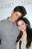 HOLLYWOOD, MAY 6: David Blue and Madison McLaughlin arrives for the post party after opening night of Sci-Fest at the ACME Theatre in Hollywood, CA on May 6, 2014.