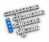 image of goal setting  - goal setting cubes crossword puzzle - JPG